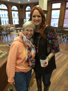 Peg Redwine & Ree Drummond at The Mercantile Building opening 2016